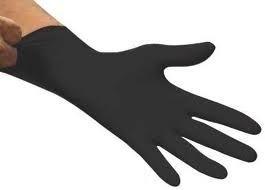 handschoenen nitril poedervij   LET OP 200  STUKS  zwart medium