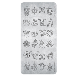 Magnetic stempel plaat Christmas 3 118630