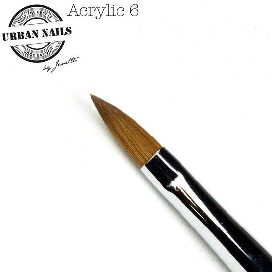 Urban Nails acryl penseel nummer 6 Met dop
