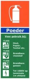 informatie bord: Poederblussers !!!NIEUW!!!