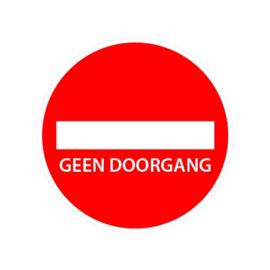 Vloerbestickering aanduiding GEEN DOORGANG  Ø 20 cm.