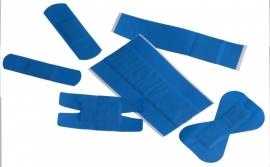 Detecteerbare blauwe pleisterstrips