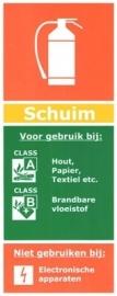informatie bord: Schuimblussers !!!NIEUW!!!