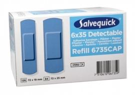 Salvequick blauwe detecteerbare pleisters 6735