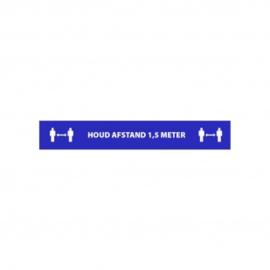 Vloerbestickering Houd afstand 1.5 meter 100x15 cm.