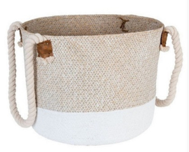 Basket Delia in Natural – White