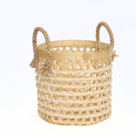Basket Bamboo in Natural ø 30 cm