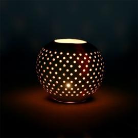 Kokosnoot Waxinelichtjes - Set van 2