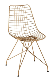 Wire Chair in Gold Color (Set of 2)
