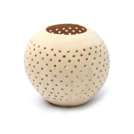 Coconut Candle Holder with Dots - Set of 3