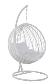Hanging Chair Round - White - including Cushion