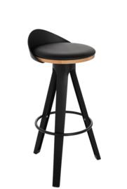Bar Stool Jeny in Black (Set of 2)