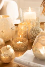 Waxinlichtjes Glitter – Set van 2