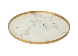 Decorative Plateau Gold color / White ø35 cm - Gusta