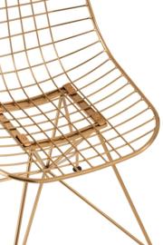 Wire Stoel in Goudkleur (Set van 2)