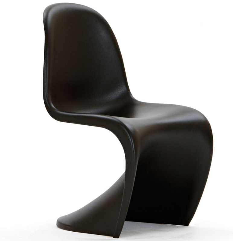 S-Chair in Wit of Zwart