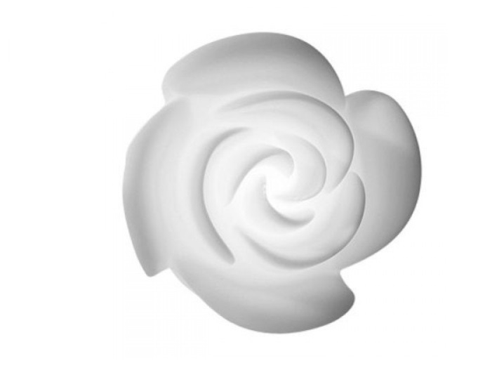 Rose Wall Lamp in White