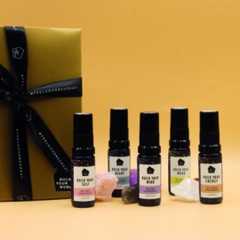 Mini Travel Set (5x Spray) - Meer Zelfliefde