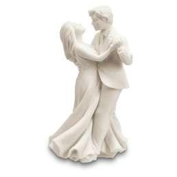 930155 Städter Taarttopper dansend bruidspaar wit