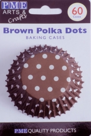 PME BC732 Brown Polka Dots Std Cups Pk60