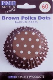 PME BC732 Brown Polka Dots Std Cups Pk60