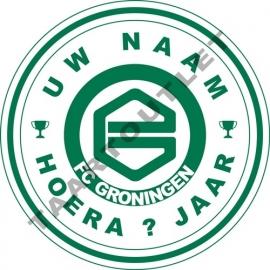 FC GRONINGEN-Cirkel met  naam ca 18 cm