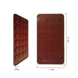 chocolate mold Bloemen