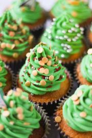 Cupcake kerstpakket kerstboom