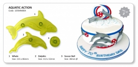 JEM 105MM004 Dolphin & Whale show - Set of 2