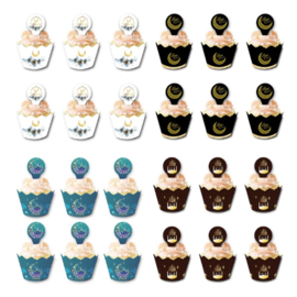 Cupcake wrappers en toppers - CC 304