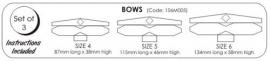 JEM 106M005 Large Bows set of 3