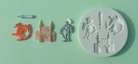 AM0007 Medieval  (ridder,draak, kasteel)