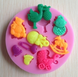CV33- baby shower mold