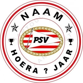 PSV-Cirkel met  naam ca 18 cm