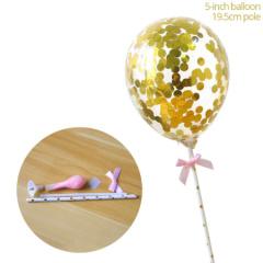 Ballon taart topper goud