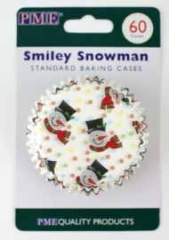 PME BC750 Smiley Snowman baking cups 60stk