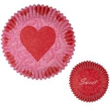 Wilton 415-1483 Pink Damask Valentine Baking Cups