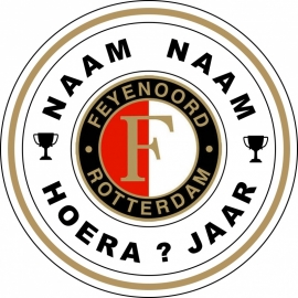 Feyenoord-Cirkel met naam ca 18 cm