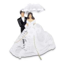 925205 Städter Taarttopper bruidspaar met parasol
