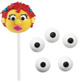 suiker ogen/ oogjes 1cm/ Wit