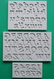 AM0066 Mold Cijfers en Letters bookman old style