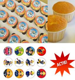Actie!  1 kilo cupcakemix + cupcake print naar keuze voor 7,25