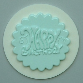 AM0088 Cupcake topper Happy birthday