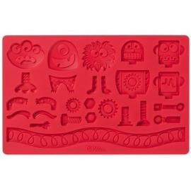 Wilton 409-2559 Fondant & Gum Paste Mold Robots & Monsters