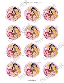 Disney prinsessen cupcake 1