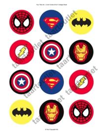 Superhelden cupcake (pakket)