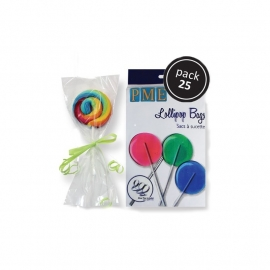 PME BL501 Lollipop Bags with Silver Ties Pk25