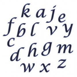 FMM CUTALP2S Alphabet tappits Lower Case SCRIPT