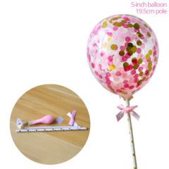 Ballon taart topper roze