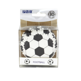 PME BC829 voetbal metallic cupcake cases (30 stuks)